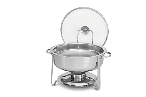 Artisan Stainless Steel Round Buffet Chafer with Glass Lid, 4-Quart Capacity by Artisan (Image #1)