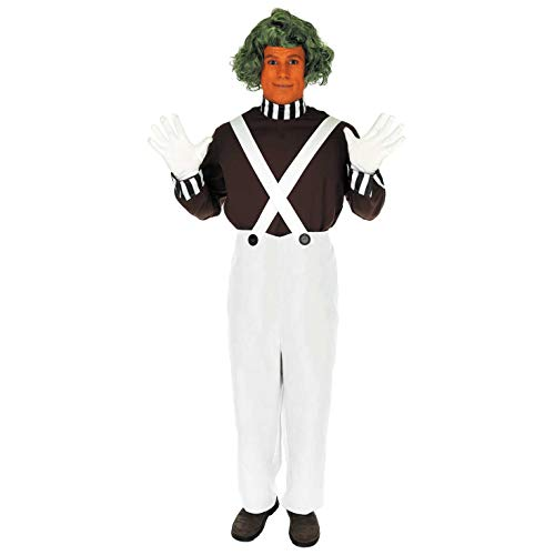 fun shack Mens Oompa Loompa with Wig, Medium