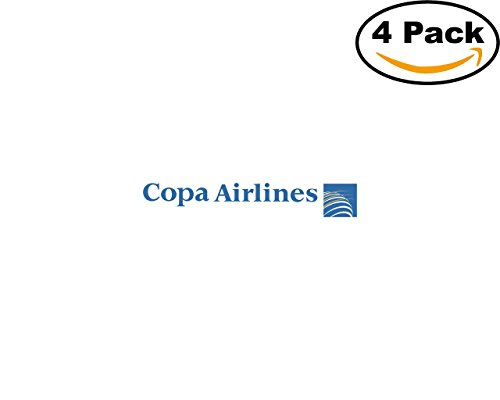 Copa Airlines 4 Stickers 4X4 inches Car Bumper Window Sticker Decal