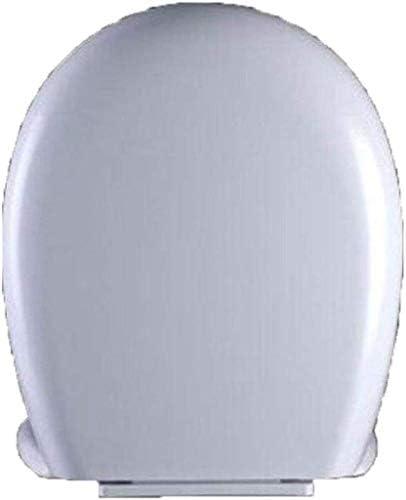 CXMMTGトイレのふた スロー閉じるミュート厚みのPPボード便座カバー付き便座大型O型トイレのふた、ホワイト-42-45 * 38.5センチメートル CXMWY-4W0Y2