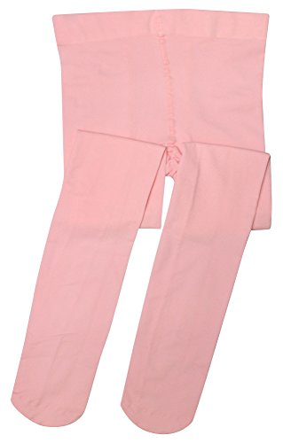(Girls' Microfiber Footed Tight Pink Medium)