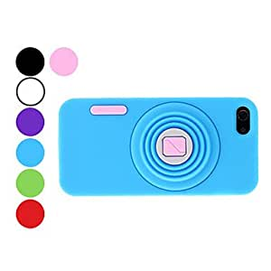 ZL Camera Design Durable Soft Case for iPhone 5/5S (Assorted Colors) , White