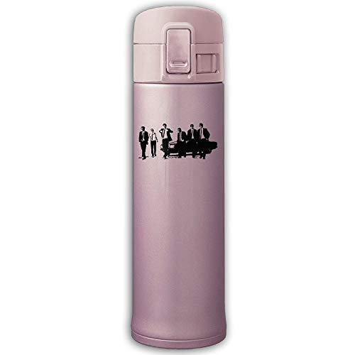 (CC COLL Group of Managers in Suits 500ML/10-Ounce Stainless Steel Thermos,Stainless Steel Mug Travel Thermos Mug Pink)