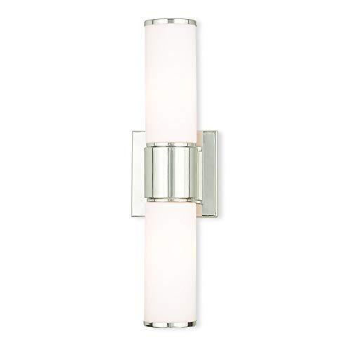Livex Lighting 52122-35 Weston 2 PN Wall Sconce/Bath Light, Polished Nickel