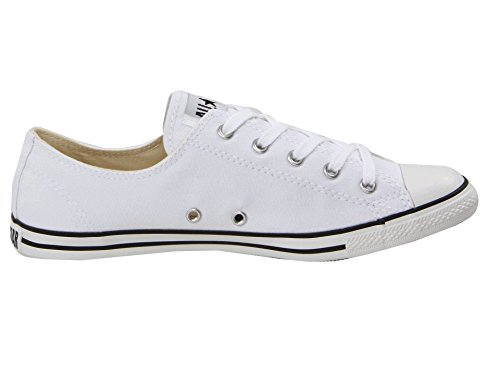 Converse Womens Chuck Taylor All Star Sneaker Dainty Ox (7.5 B (m), Bianco, Nero)