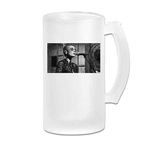 GNonBcalvAes Sinead O'Connor Frosted Beer Mugs With Handle Large Steins Drinking Bar Cafe Cup Gifts For Men Women Dad