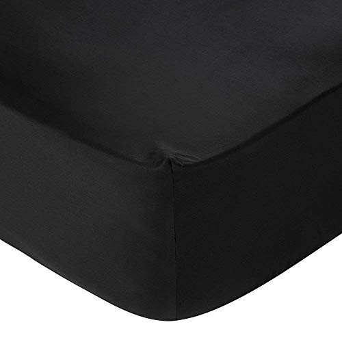 Prince Lionheart Inc Luxury Collection 600 Thread Count Fits Mattress Upto 20 inch Deep Pocket 1 Piece (Bottom Sheet Only) Fitted Sheet Soft Collection (Black, - Collection 600 Thread