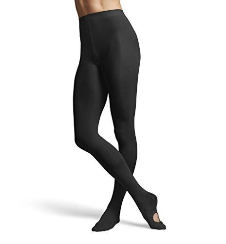 Bloch Convertible Tights - Bloch Dance Women's Contour soft Adaptatoe Tights, Black, Small/Medium