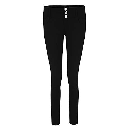 Noir Petits Femmes Crayon Pieds Skinny Pantalon Moyenne Bombe Coupe Haute Slim Pantalon Longueur Stretch Jeans Taille FemmeSisit Slim Mollet Coton Jambires pwICqC