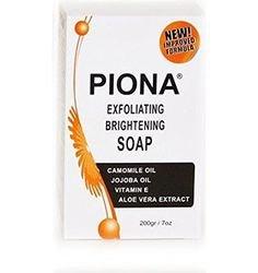 Piona Exfoliating & Brigtening Soap 7oz - Camomile Oil - Jojoba Oil - Vitamin E - Aloe Very Extra - By Cherrybargains