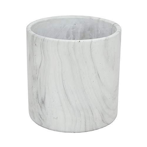 white marble flower pot - 1