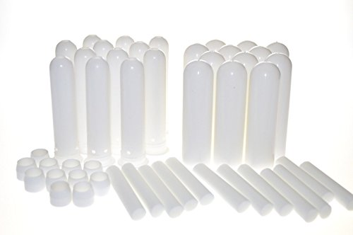 - mEssentials Essential Oil Inhaler Sticks (150 Pack) - Blank Nasal Wicks for Aromatherapy On The Go - Compact, Lightweight, Easy to Use - Tight Seal Close - Made in USA, Medical Grade Plastic