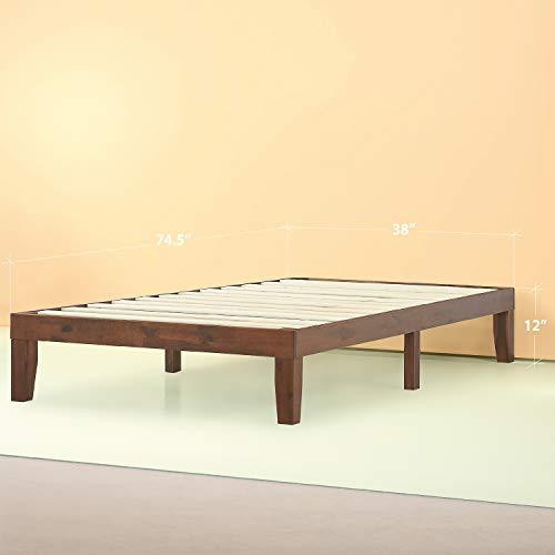 Zinus Marissa 12 Inch Wood Platform Bed / No Box Spring Needed / Wood Slat Support / Antique Espresso Finish, Twin