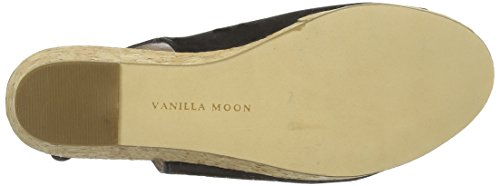 Beth Femme Vanilla Sandales black Moon Nubuck Noir Compensées qZBRTv