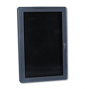 QUARTET Enclosed Magnetic Directory, 24 x 36, Black, Gray Frame (Case of 2)