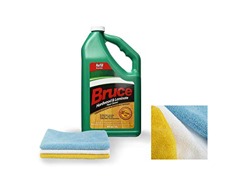 Bruce 64 fl. oz. Hardwood and Laminate Floor Cleaner Refill | with Three Microfiber Cleaning Cloth