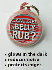 Pet ID Tag Silencer - Round - Glow in the Dark (LARGE 1.25)