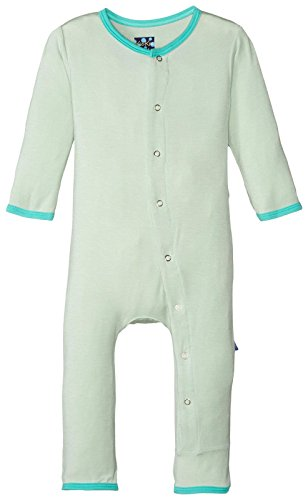 KicKee Pants Baby Boys Solid Coverall Prd-kpca212-aog, Aloe with Glass, 6-9 Months