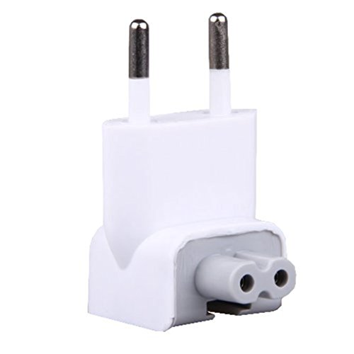 Sportsmax US to Europe Travel Charger AC Power Adapter Euro Wall Plug Duck Head Converter for Apple MacBook/iBook/iPad/iPhone/iPod