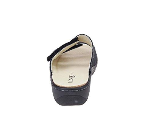 Skechers 3074245-1 1 - Zuecos de cuero repujado para mujer negro