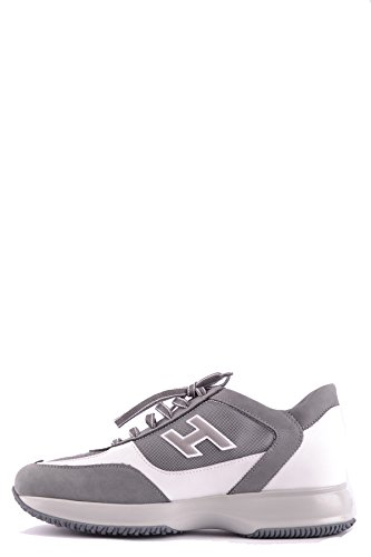 Hogan Homme MCBI148430O Blanc/Gris Suède Baskets