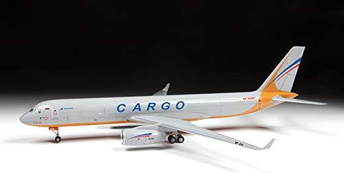 "ZVEZDA 7031 - Russian Cargo Airplane TU-204-100C - Plastic Model Kit Scale 1/144 139 Parts Lenght 14½"" / 36.9 cm 3"