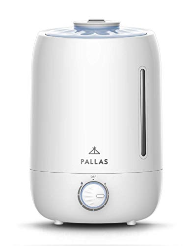 Pallas Ultrasonic Humidifier, 5L Cool Mist Humidifier for Bedroom, Home, Baby with adjustable mist knob, 360 rotatable mist outlet