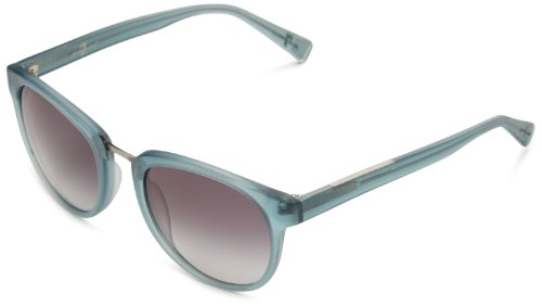 7 For All Mankind Monterey Oval Sunglasses,Turquoise Crystal Frame/Grey & Grey Lens,One - For All Seven Glasses Mankind