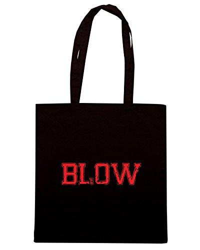 T-Shirtshock - Bolsa para la compra OLDENG00420 blow vintage Negro