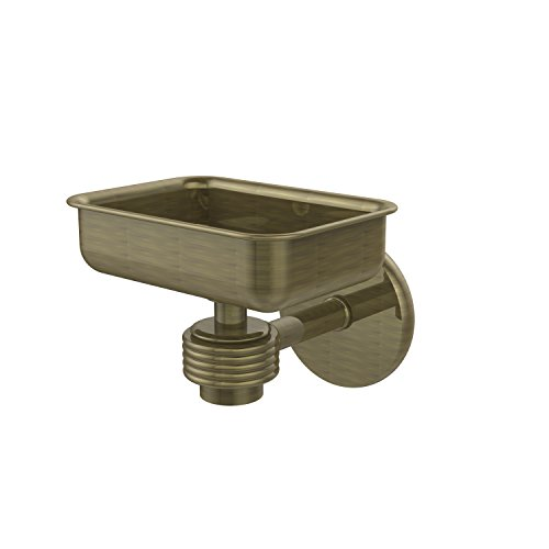 Allied Brass 7132G-ABR Satellite Orbit One Wall Mounted Soap Dish with Groovy Accents Antique Brass