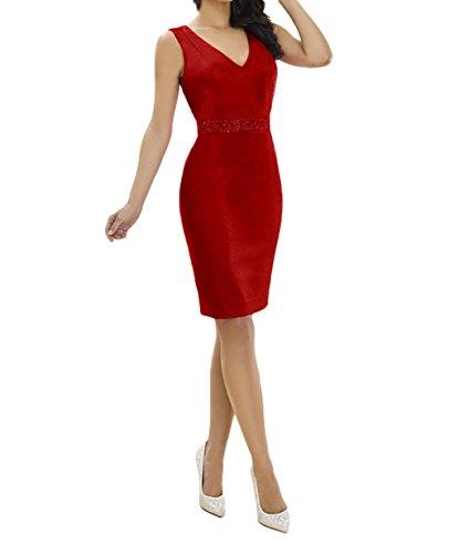 Charmant Abendkleider Damen Dunkel Pink Brautjungfernkleider Rot Elegant Partykleider Chiffon Brautmutterkleider Etuikleider rwrXzCdqxn