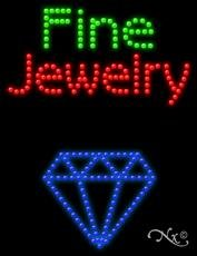 20' Fine Jewelry (Fine Jewelry - Ultra Bright LED Sign - 20'' x 26'')