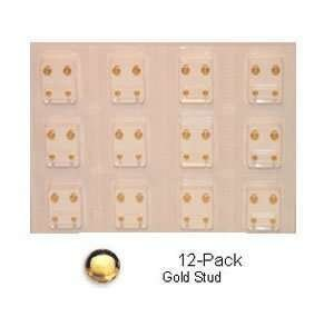 Studex Sterilized Piercing Earrings * Ear Stud * Reg. * Gold * Studs * 12 Pair Individually Packaged (Studex Sterilized Piercing Earrings)
