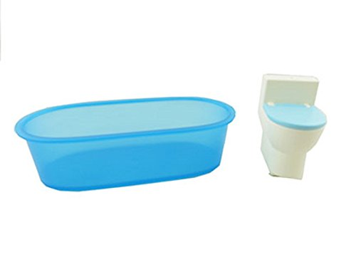Barbie 3-Story Townhouse - Replacement Bathtub and Toilet