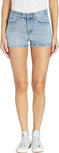 Juicy Couture Women's Crystal Denim Shorts Surfrider Wash 25 3