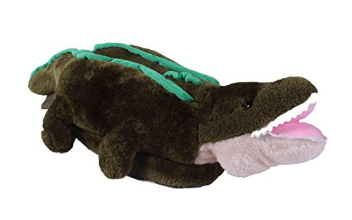 9047-4 - Alligator - X-Large - Happy Feet Kids and Adult Animal Slippers