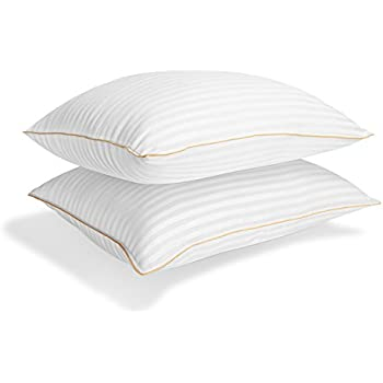 Italian Luxury Plush Gel Pillows (2-Pack) - Premium Quality Luxury 1200 Series Hotel Collection - 30 Oz Fill - Queen