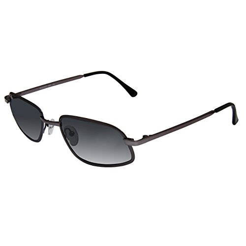 Xezo Mens Architect Retro Futurism Pure Titanium Featherweight Sunglasses. UV 400 Polarized Grey Polycarbonate (Polarized Gray 400 Glass Lens)