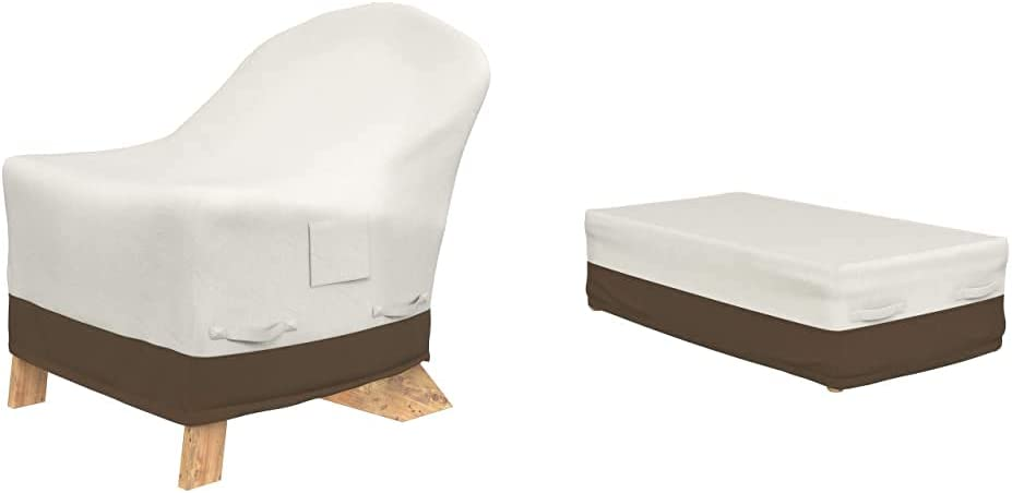 Amazon Basics Adirondack-Chair Outdoor Patio Furniture Cover & Coffee Table Patio Cover