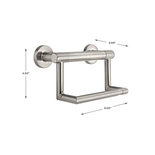 Delta Faucet 41550-SS Contemporary Tissue Holder/Assist Bar, Stainless by DELTA FAUCET (Image #4)