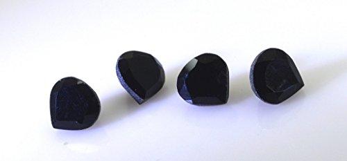 noir onyx pierres précieuses en vrac 1 morceaux de 10 x 10 mm poire de pierres précieuses à facettes noir