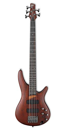 Ibanez Electric String Basses - Ibanez SR505BM Soundgear 5-String Bass, Mahogany