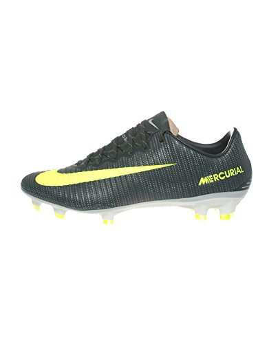 Nike Men's Mercurial Vapor XI CR7 FG Soccer Cleat (Sz. 11) Purple Dynasty, Bright Citrus by NIKE