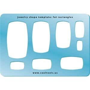 Cool Tools - Jewelry Shape Template - Fat Rectangles