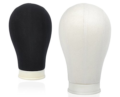 BHD BEAUTY Poly Block Professional Mannequin Head White for Make Display Style Dry Wig With Mount Hole 22
