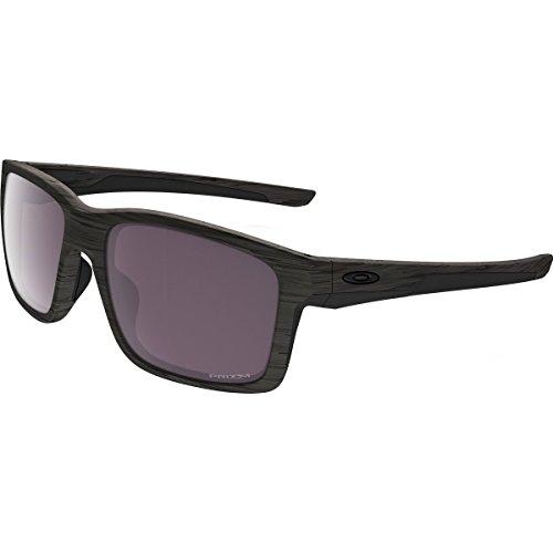 Oakley Men's Catalyst Polarized Iridium Rectangular Sunglasses, Woodgrain, 55 - Woodgrain Sunglasses Oakley