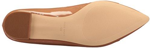 Nine West Womens Anemone Patent Pointed Toe Flat Dark Natural/White 1ug8F