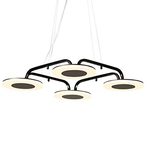 NJ Chandelier- Postmodern Minimalist Nordic Personality Creative Chandelier Restaurant Living Room Bedroom Lamps (Color : Black, Size : 56x60cm)