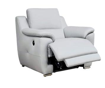 Fauteuil relax électrique VOGG Cuir cro te cuir Blanc Amazon
