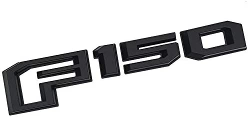 Black red 3D Tailgate Insert Letters Rear Badge Decal Replacement for Ford F150 2015-2018 1Pc F-150 Emblem